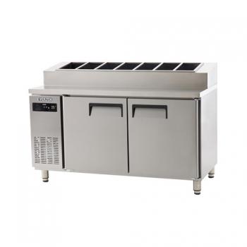 토핑 테이블 냉장고 1500 에버젠 스텐 냉장 418L
