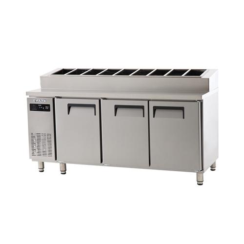 토핑 테이블 냉장고 1800 에버젠 스텐 냉장 519L