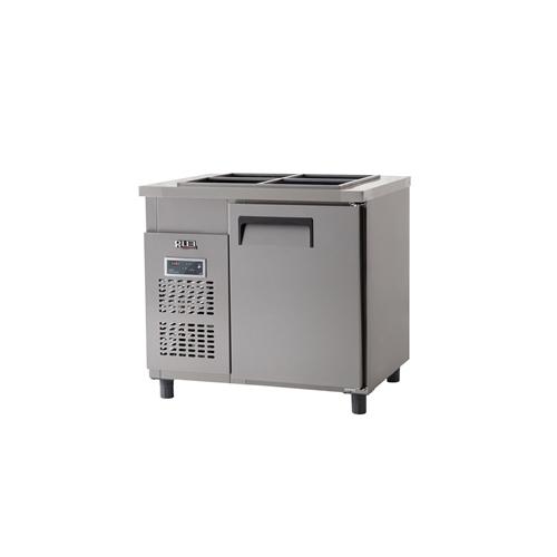 받드 냉장고 900 x 700 디지털 냉장 129L 올 스텐