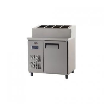 토핑 테이블 냉장고 900 올 스텐 디지털 냉장 253L