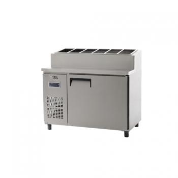 토핑 테이블 냉장고 1200 디지털 냉장 365L 내부 스텐