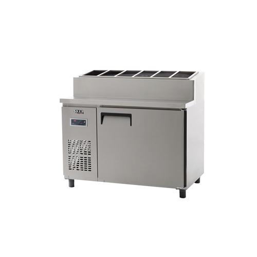 토핑 테이블 냉장고 1200 디지털 냉장 365L 올 스텐