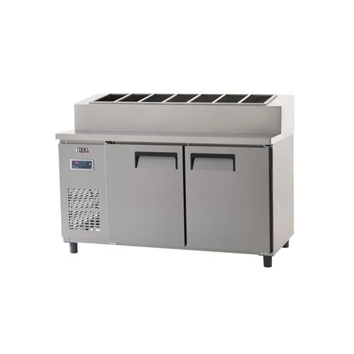 토핑 테이블 냉장고 1500 디지털 냉장 495L 올 스텐