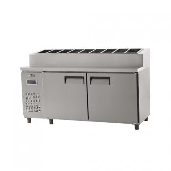 토핑 테이블 냉장고 1800 디지털 냉장 627L 내부 스텐