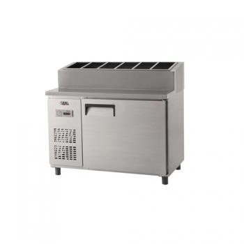 토핑 테이블 냉장고 1200 아날로그 냉장 365L 내부 스텐