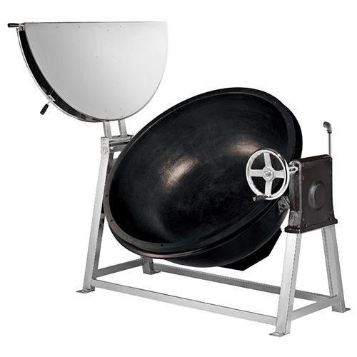 가스 회전식 국솥 200인분 90L 내피 철주물