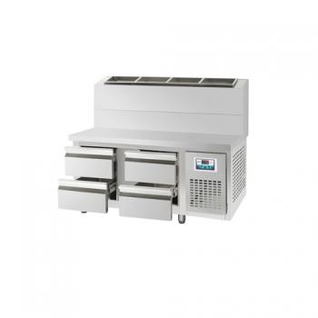 콜드 서랍식 토핑 테이블 냉장고 1500 간냉식