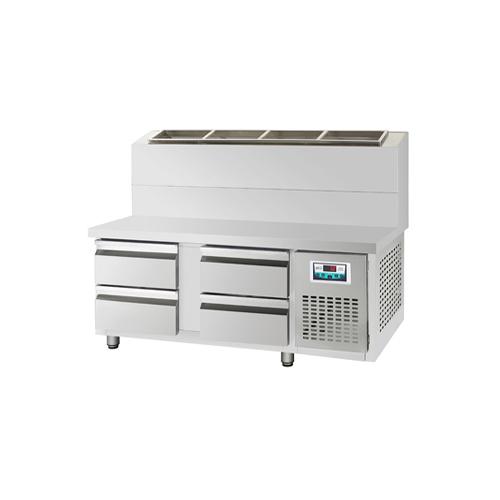 콜드 서랍식 토핑 테이블 냉장고 2100 간냉식