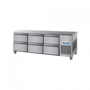 콜드 낮은 서랍식 테이블 냉장고 간냉식 1800