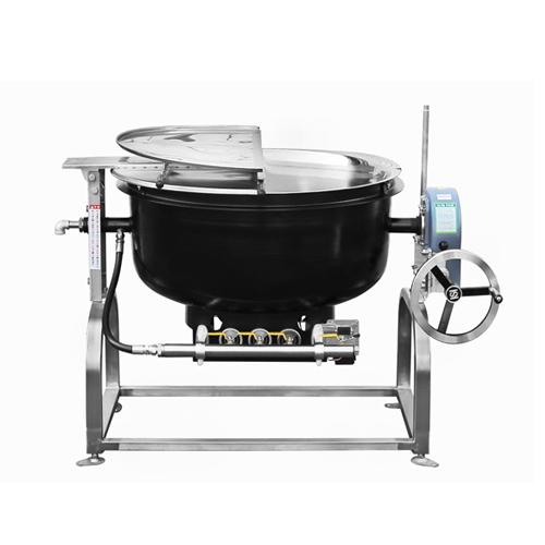 가스 회전식 국솥 200인분 100L 내피 스텐레스 외피 철주물