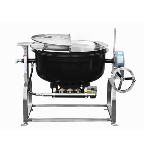 가스 회전식 국솥 500인분 250L 내피 스텐레스 외피 철주물