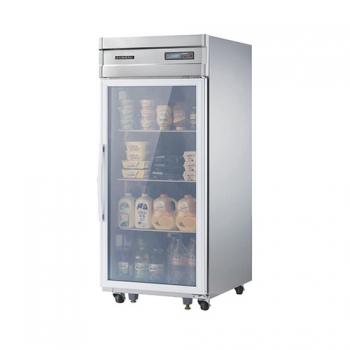 고급형 25박스 디지털 간접 냉각 냉장 524L 유리문 올 스텐