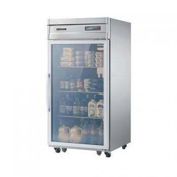 고급형 30박스 디지털 간접 냉각 냉동 562L 유리문 올 스텐
