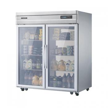 고급형 45박스 디지털 간접 냉각 냉장 1057L 유리문 올 스텐