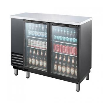 호프냉장고 테이블 간접 냉각 냉장 568L 2도어 유리문 상부 스텐