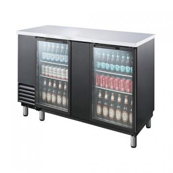 호프냉장고 테이블 간접 냉각 냉장 670L 2도어 유리문 상부 스텐