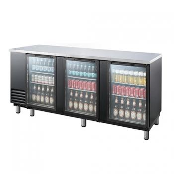 호프냉장고 테이블 간접 냉각 냉장 912L 3도어 유리문 상부 스텐