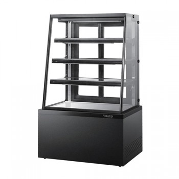 높은 제과 쇼케이스 사선 4단 (블랙) 뒷문형 900
