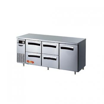 1800간냉 냉장 테이블 4서랍(좌,중),1스윙도어형(우)