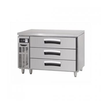 1200 간냉 3단 서랍식 테이블 냉장고 290L