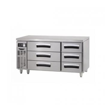 1500 간냉 3단 서랍식 테이블 냉장고 391L