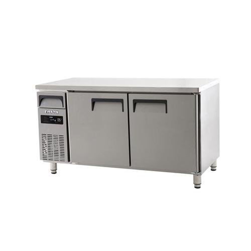 에버젠 직접냉각방식 냉동냉장테이블 1500 디지털 냉동 191L 냉장 191L 2도어